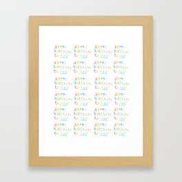 Happy birthday 1-Happy birthday, birthday,greeting,candle,birth date, anniversary Framed Art Print