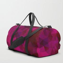 Purple red polygonal background Duffle Bag