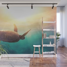 Sea Turtle - Underwater Nature Photography Wall Mural