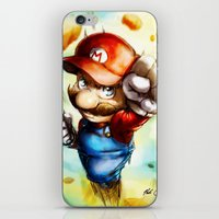 super mario iPhone & iPod Skins featuring Super Mario by markclarkii