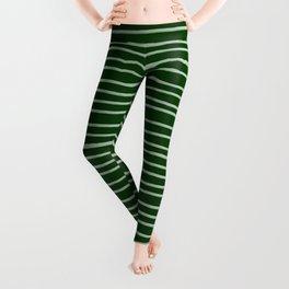 Forest Green Pinstripes Leggings