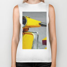 Yellow Vintage Scooter (Color) Biker Tank