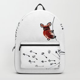 Hold on my Bouboule, french bulldog art by BoubouleArt Backpack