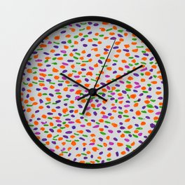 Improvisation in color Wall Clock