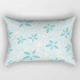 Sea Blue Lily Flower Rectangular Pillow