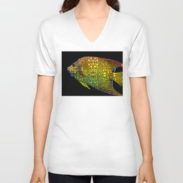 Tropical Fish 12 - Abstract Art By Sharon Cummings Unisex V-Neck