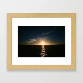 Sunset Water Reflection Framed Art Print