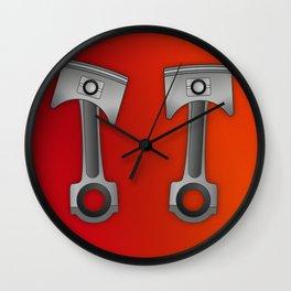 Pistons engine Wall Clock