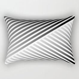 Stripes In Black & White 2 Rectangular Pillow