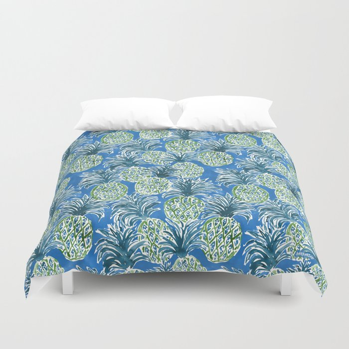 LAPIS PINEAPPLE O'CLOCK Tropical Print Duvet Cover