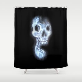 Wood Skull Shower Curtain