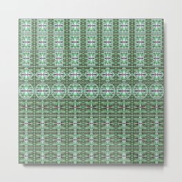 Designer Green Palms Environment Metal Print