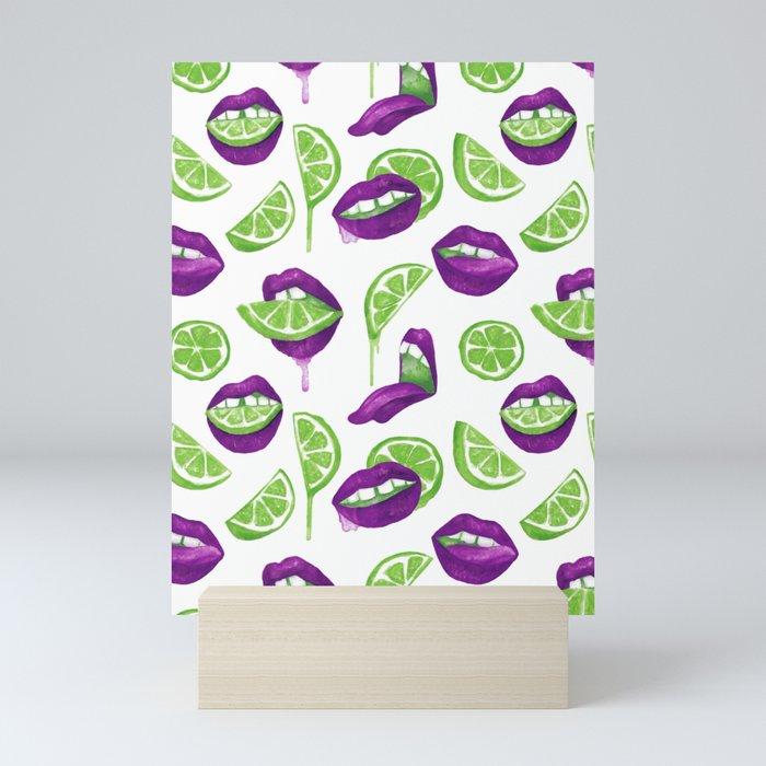 Don't Kill My Vibe (Lime) Mini Art Print