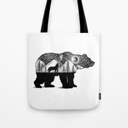 THE BEAR AND THE WOLF Tote Bag