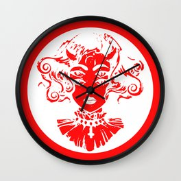 Woman eyes Satan coin Elegant clothes gift Wall Clock