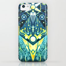 The Reaper War: Control Ending - Quarian Tapestry Art Style (blue/gold ver.) Slim Case iPhone 5c