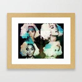 Bey Formation Blue Framed Art Print