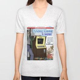 Video Game Trader #20 Cover Design  Unisex V-Neck