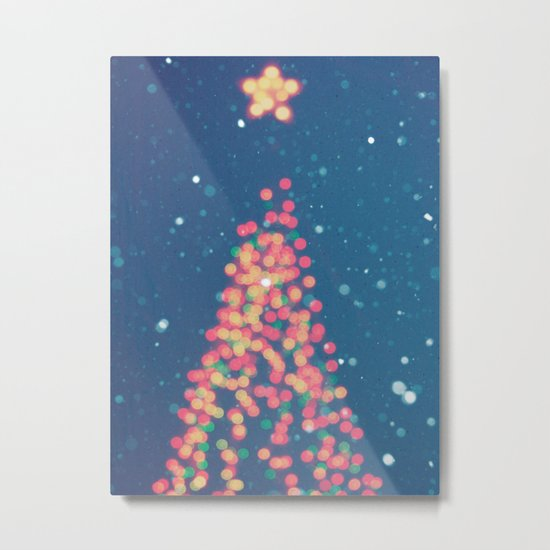 Merry & Bright Metal Print