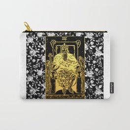 The Emperor - A Floral Tarot Print Carry-All Pouch