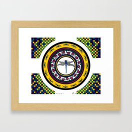 Circle of Life 3 / Dragonfly Framed Art Print