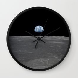 see the marble from the moon | space #05 Wall Clock