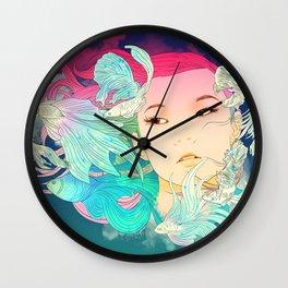 Fish Lady Wall Clock