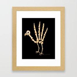 Bone TurkeyHand skeleton Framed Art Print