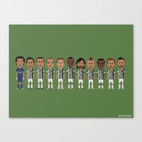 juventus Canvas Prints featuring Juventus 2013 by 8bit Football