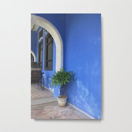 Blue Mansion in Penang, Malaysia (2013f) Metal Print