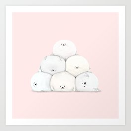 Harp Seal Pups Art Print