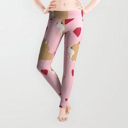 Corgi love - Pink Leggings