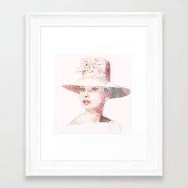 Audrey Hepburn - Watercolor Framed Art Print