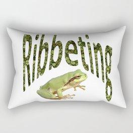Ribbeting Frog Rectangular Pillow