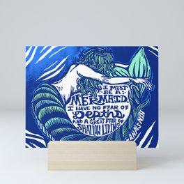 Anais Nin Mermaid Depths Mini Art Print