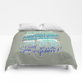 RED VS. BLUE - I SAID REBELLIOUS NOT REVOLUTIONARY Comforters