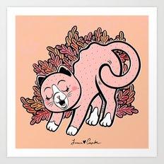 Cat Purring Art Print