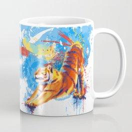 Stretching Tiger Coffee Mug