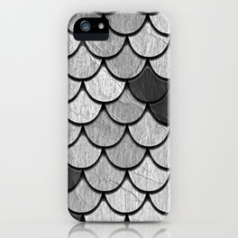 Dragon Scales with Black Outline iPhone Case