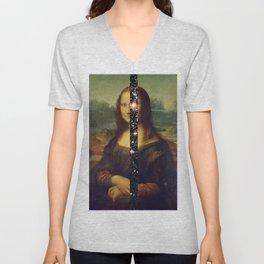 Mona Lisa is Eternal Unisex V-Neck