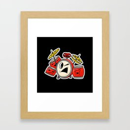 Tub Thumping Drum Parade Framed Art Print
