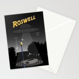 Aliens Over Roswell Stationery Cards