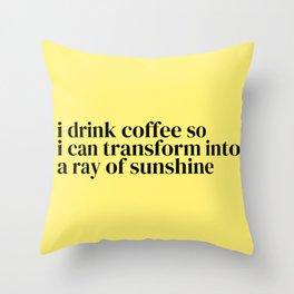 Cup o' Sunshine Throw Pillow