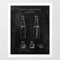 Design for a Beer Bottle  Art Print