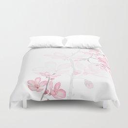 pink cherry blossom macro 2018 Duvet Cover