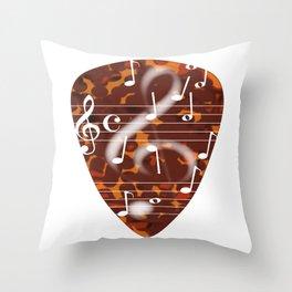 Treble Cleff Plectrum Throw Pillow