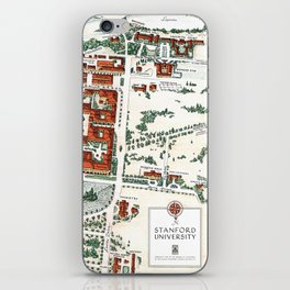 STANFORD CALIFORNIA University map iPhone Skin