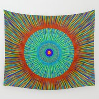 kaleidoscope Wall Tapestries featuring Kaleidoscope  by BrucestanfieldartistPatterns