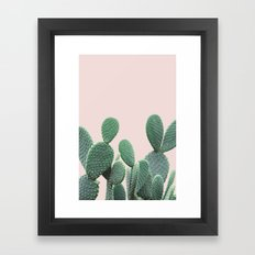 Cactus on Blush Framed Art Print