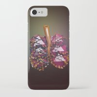 lungs iPhone & iPod Cases featuring Lungs by Victoria Cartwright